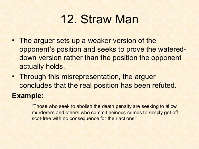 What Is A Strawman? And Debunking The IRS's Straw Man